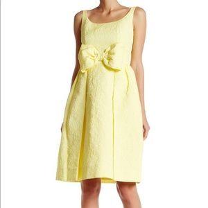 NWT Kate Spade Floral Dress 8 Yellow Bow TAVOR